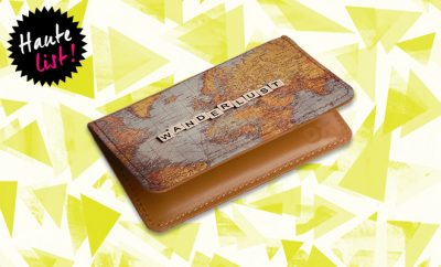 Daily Objects Wanderlust Map Card Wallet_Hauterfly