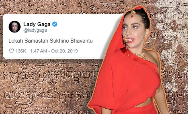 Lady-Gaga's-Tweet-In-Sanskrit-660-400-hauterfly