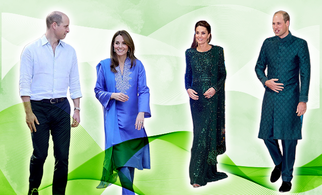 Will and Kate in Pakistan Ethnic Clothes