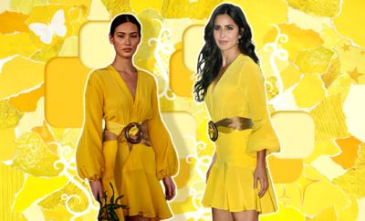 Hauterfly Katrina Kaif SILVIA TCHERASSI yellow dress