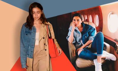Hauterfly Alia Bhatt Half and Half denim trench