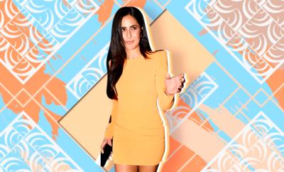 Hauterfly Katrina Kaif Alex Perry Orange Dress