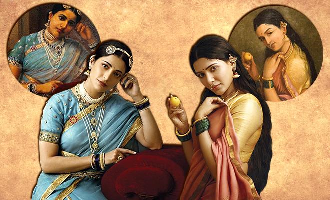 Recreation Of Raja Ravi Varma's Paintings 660 400 hauterfly