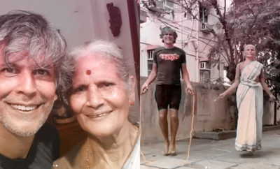 FI Milind Soman's Mum Is Skipping Her Way To Our Hearts