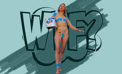 FI Woman Sports Mask Bikini In Protest
