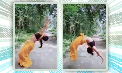 FI This Woman Did A Back Flip In A SAree