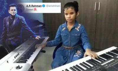 FI Visually Impaired Girl's Keyboard Skills Impress Rahman