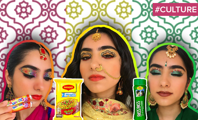 FI Instagrammer Turns Indian Snacks Into Makeup Looks