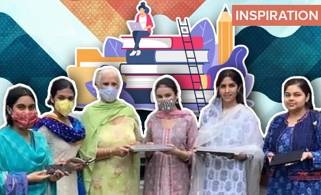 FI Student Distribute Gadgets To Rural Girls For E-Learning