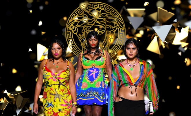 Plus Size Models Sashay Down The Ramp For Versace