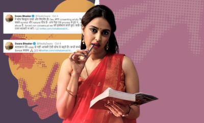 Swara Bhasker Schools Man On Consensual Sex