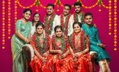 Fl-3-sisters-of-Kerala's-quintuplets-get-married-on-same-day