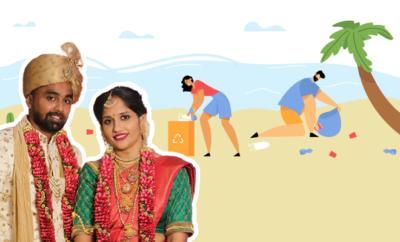 Fl-Karnataka-Newlyweds-Clean-Beach-Instead-Of-Going-On-Honeymoon