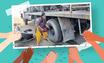 Kothagudem-woman mechanic