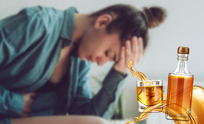 Teetotaler woman producer alcohol in body