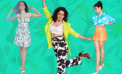 FI-Sanya- Malhotra promotional-looks-for-Pagglait