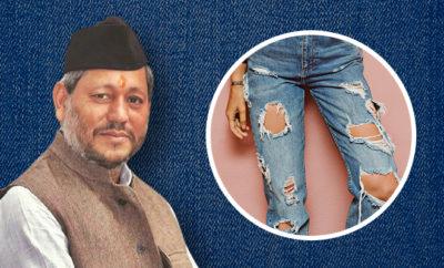 Tirath Singh Rawat Ripped jeans
