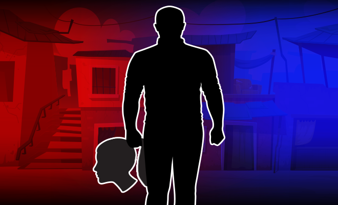 Fl-UP-Man-Cuts-Off-Daughter's-Head,-Walks-With-It-In-Village