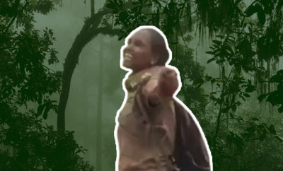 Fl-Woman-forest-officer-dances-in-joy-as-rain-showers-over-Similipal-after-forest-fire