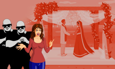 Woman screams babu as man married