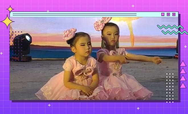 FI-Little-Girl-Dozes-Off-on-Stage-During-Dance-Performance,-Hilarious-Video-Goes-Viral