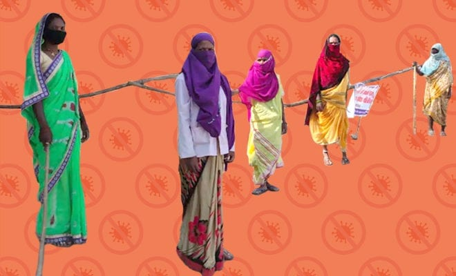 FI-Not-a-Single-Covid-19-Case-in-This-MP-Village-As-Women-Armed-With-Sticks-Stand-Guard,-Restrict-Outsiders'-Entry