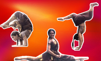 Woman-performs-split-while-wearing-saree,-video-is-a-must-watch