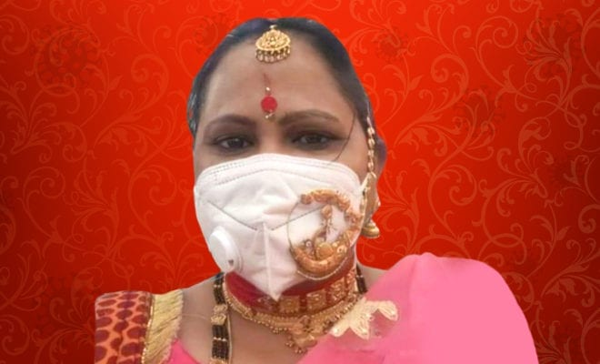 woman--gold-'nath'-over-N-95-mask