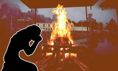 Rajasthan-woman,-mourning-her-father's-death-of-Covid,-leaps-into-funeral-pyre