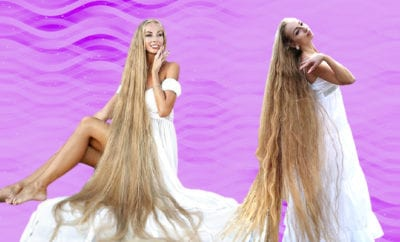 Real-life Rapunzel hasn't cut her hair since she was five, now it's 6ft long