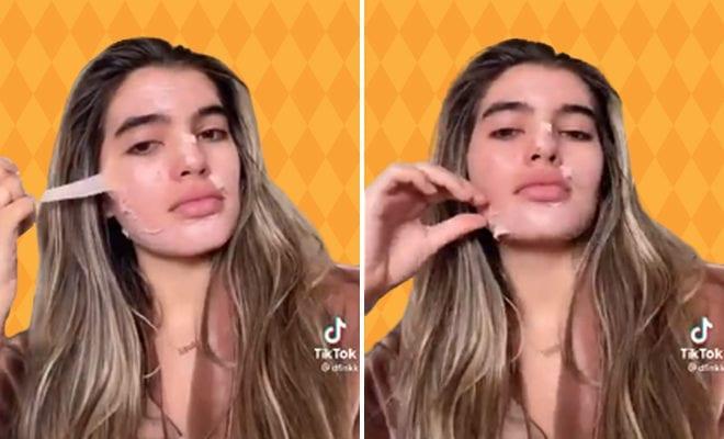 video-women skin peel during a menstruation