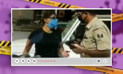 Woman-flouts-COVID-norms,-creates-ruckus-abusing-cops-on-duty