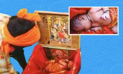 Newborn-Girl-In-Wooden-Box-Found-Floating-In-Ganga,-Rescued-By-Boatman