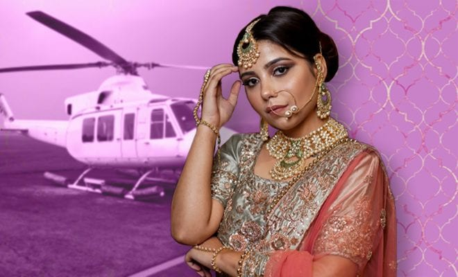 Elected-as-village-head,-UP-bride-arrives-at-in-laws'-house-in-chopper
