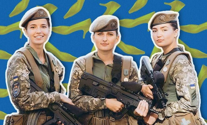 Sexist Ukraine-to-give-female-soldiers-'more-comfortable'-heels