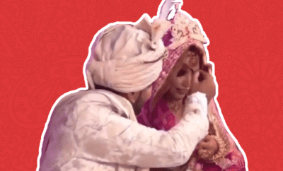 Groom-Fixes-Bride's-Makeup-With-a-Contour-Brush-After-Excess-Sindoor-Falls-on-Her-Nose