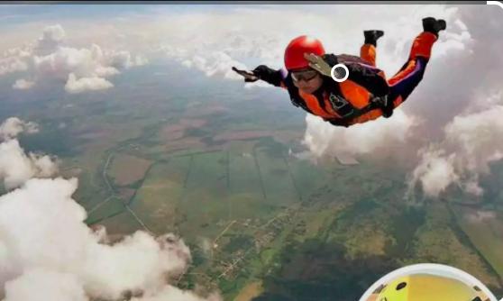 Shweta Parmar skydiving