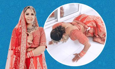 FI-Bride-Does-Pushups-Wearing-Bridal-Lehenga,-Gives-Major-Fitness-Goals