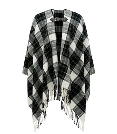 Forever New LUCY CHECK TASSEL CAPE_Hauterfly