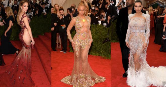 International celebs in naked dresses