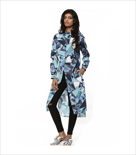 PANKAJ & NIDHI FOR KOOVS Broken Glass Print Maxi Blouse_Hauterfly