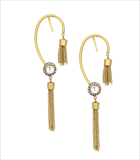 Vasundhara Gold rhodium plated kundan chain earcuffs_Hauterfly