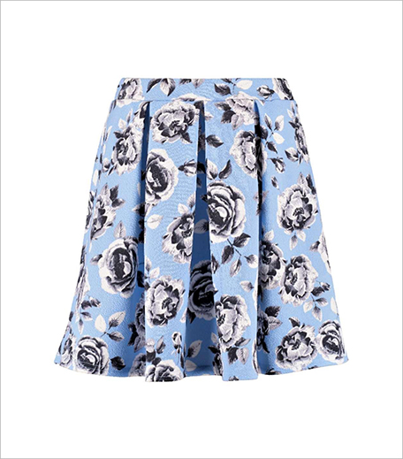 Booho JENI FLORAL PRINT BOX PLEAT SKATER SKIRT_Hauterfly