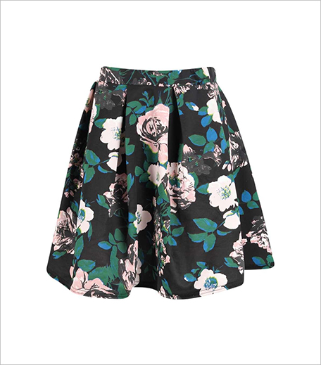 Boohoo BLOSSOM BOX PLEAT FLORAL SKATER SKIRT_Hauterfly