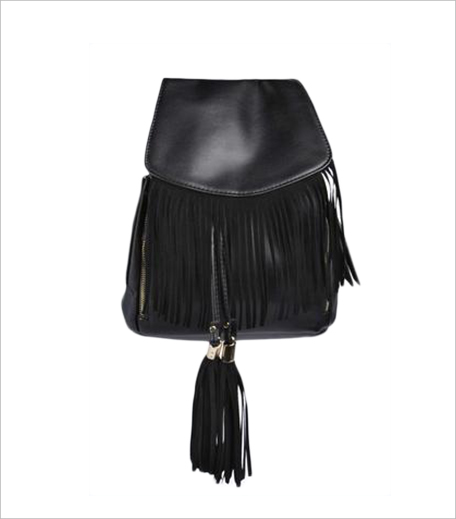Boohoo KATIE TASSEL FRINGED BACKPACK_Hauterfly