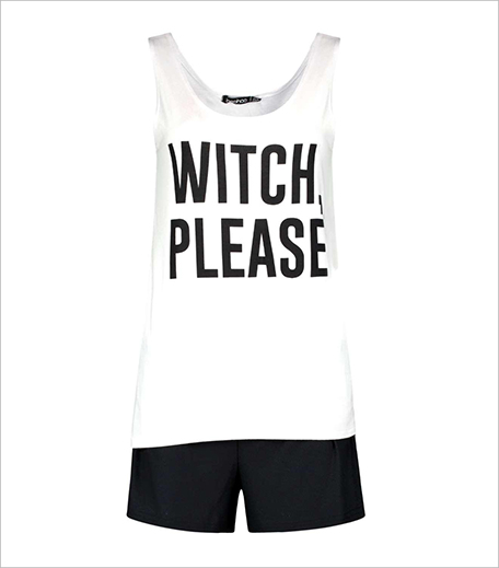 Boohoo LILY WITCH SLOGAN VEST AND SHORTS NIGHT SET_Hauterfly