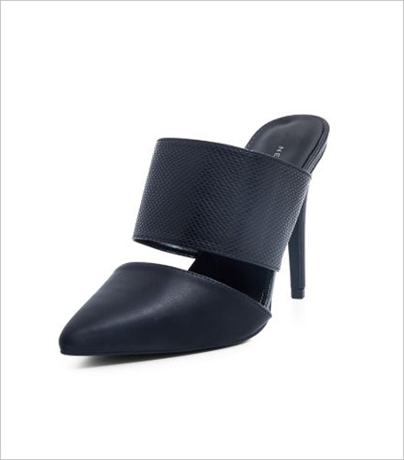 New Look Black Textured Strap Pointed Mules_Hauterfly