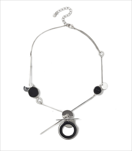 Next Silver Coloured Circle And Stick Necklace_Hauterfly