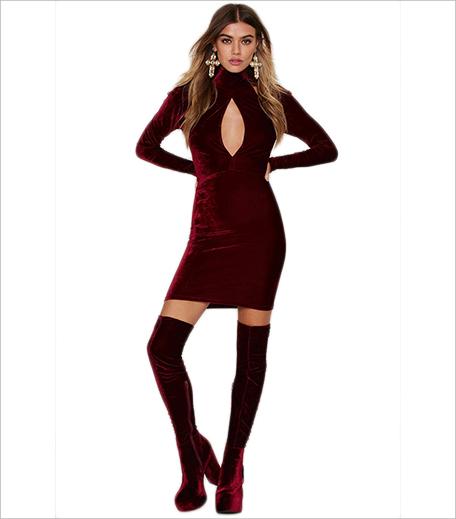 Oh My Love Great Pretender Velvet Cutout Dress_Hauterfly