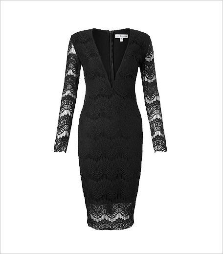 Rare Long Sleeve Lace Plunge Midi Dress_hAUTERFLY